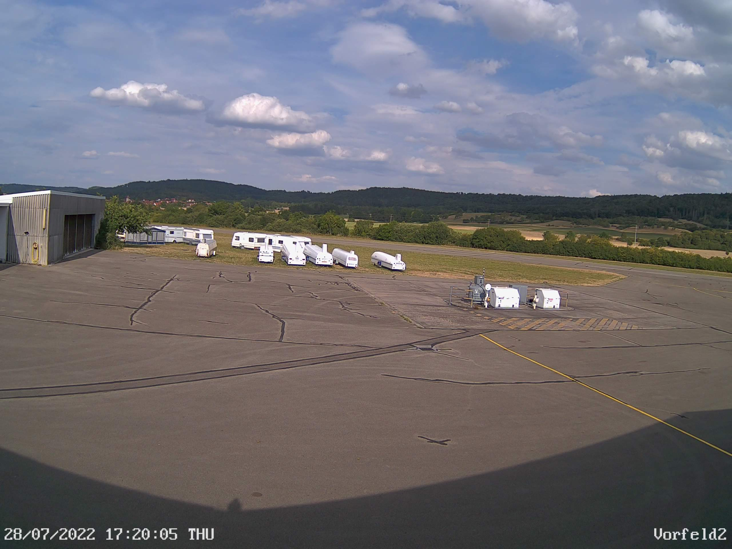 Webcam Flugplatz Rothenburg ob der Tauber