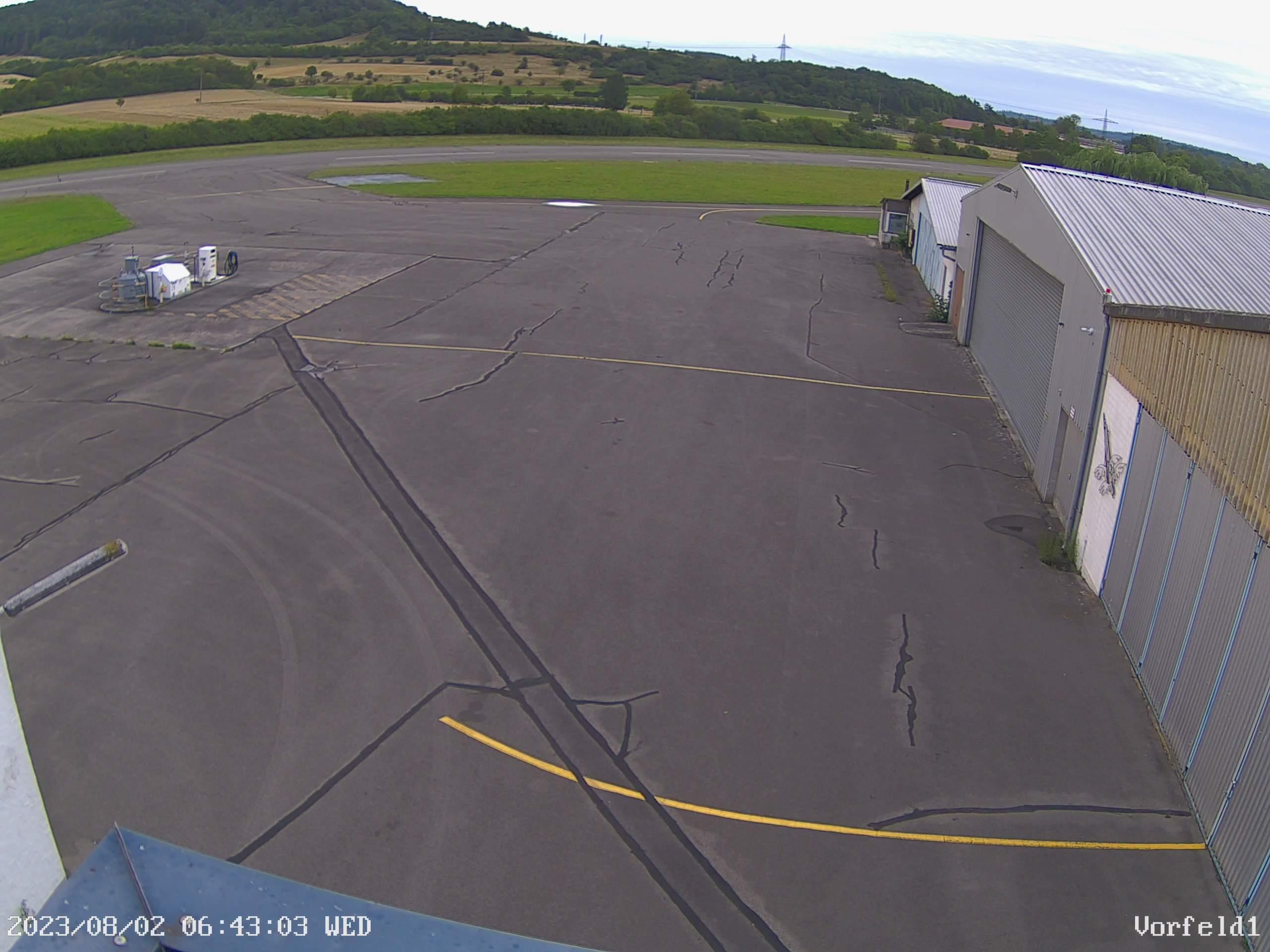 Webcam auf Aufsetzpunkt Piste 21